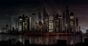 Captial city - skyline at night